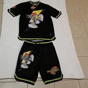 Medium adult unisex Space Jam jersey / short set